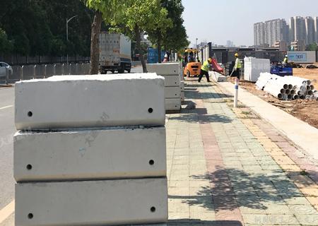 深圳市大通建材围挡预制块的用途与安装方法