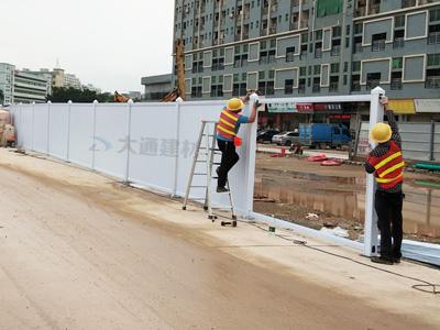 市政标准PVC围挡价格 多少钱一平米?
