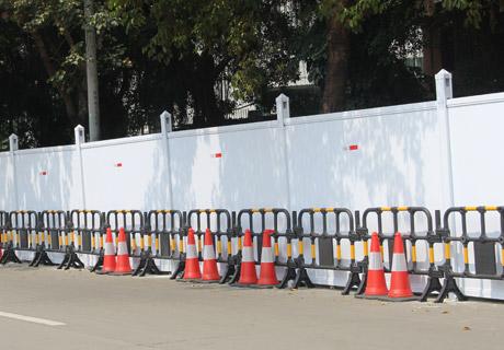 PVC围挡施工案例-PVC围挡-深圳市大通建材有限公司围挡生产厂家
