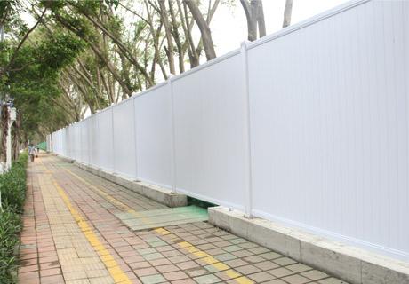 PVC围挡道路安装施工效果展示