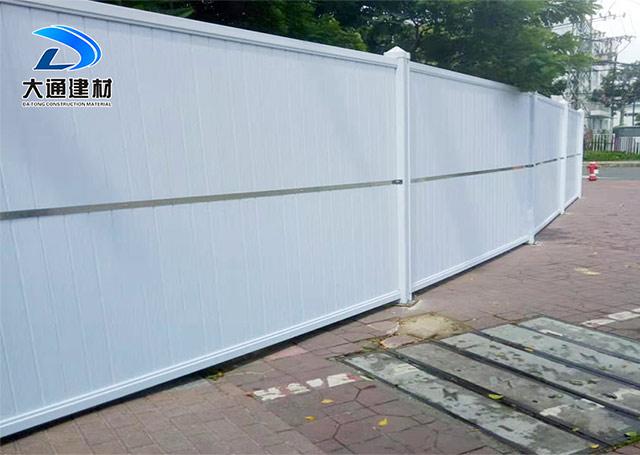 深圳市龙岗区布澜路 PVC围挡 道路施工围挡安装