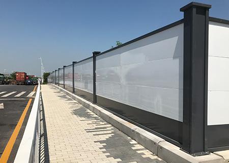 深圳施工围挡-A类钢结构围挡安装案例