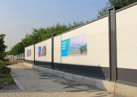 装配式钢结构烤漆围挡-深圳市前海围挡安装现场