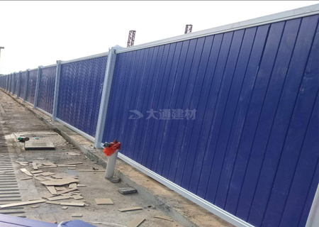 蓝色PVC围挡—深圳市政工程围挡工程