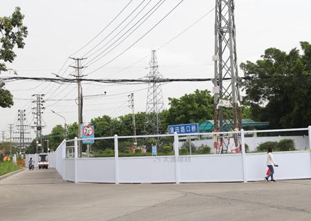 工地PVC围挡-深圳蒲田路口桥工程