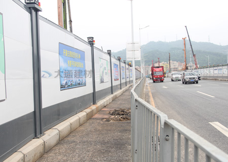 钢结构围挡-深圳市政道路工程项目<