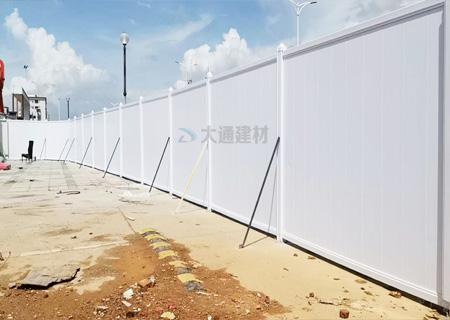 高质量平面墙PVC围挡-深圳工程案例<