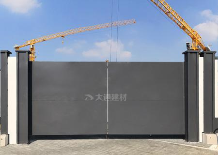 钢结构工地大门 施工现场大门 工程案例-工地大门-深圳市大通建材有限公司围挡生产厂家