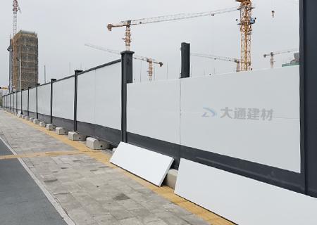 A类烤漆钢围挡半龙骨款-深圳建筑项目工程施工围挡案例
