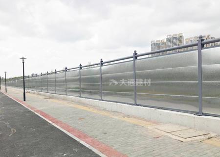 镀锌板钢结构围挡c款-深圳市政工程围挡交委款案例<