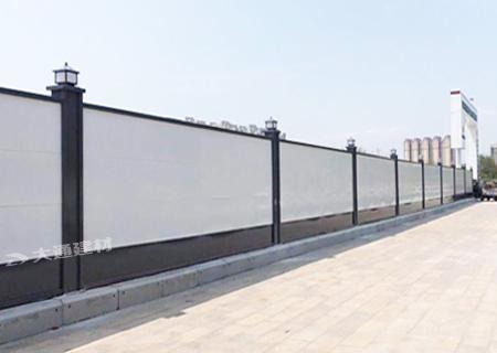 钢结构装配式围挡A类-工地施工现场临时围挡案例