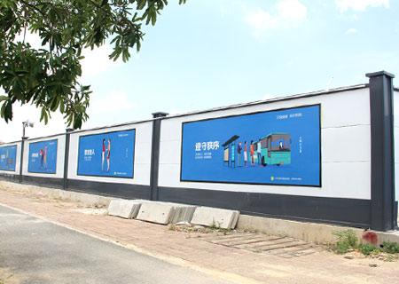 深圳坪山区足球场建设项目围挡安装-A类钢结构围挡<