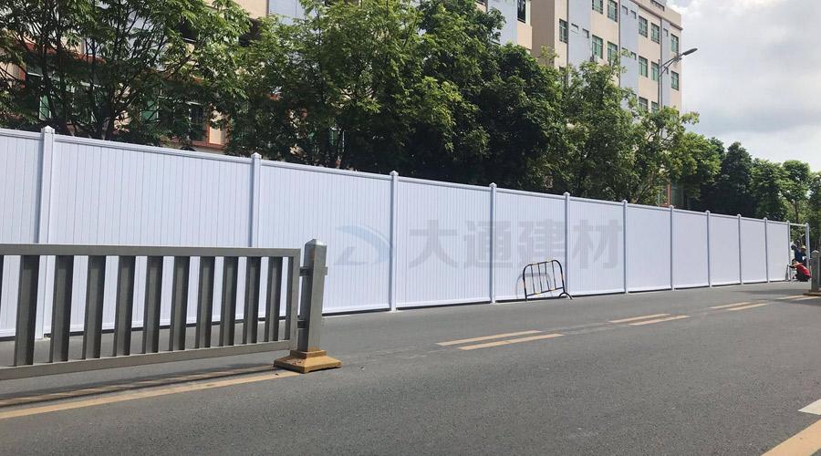 深圳大通建材PVC围挡道路施工案例