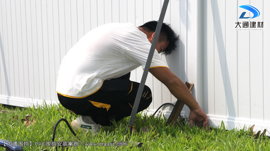 PVC临时施工围挡安装案例