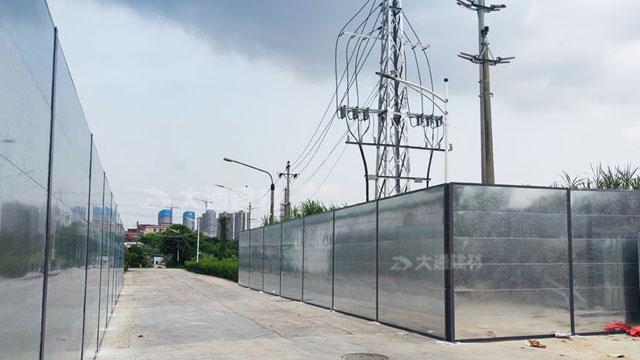 深圳钢结构围挡C型-深圳盐田地产施工工程围挡