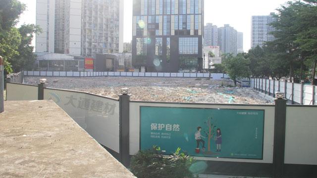 深圳钢结构围挡A款-深圳光明区地产工程施工围挡案例