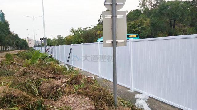 深圳标准PVC围挡-深圳龙岗平湖街道施工工程PVC围挡