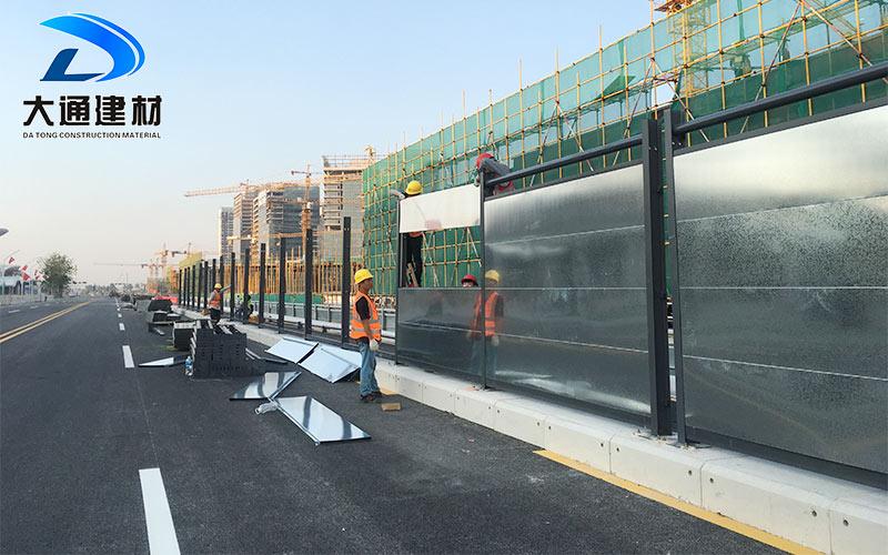 深圳施工围挡-钢结构镀锌板围挡施工安装案例