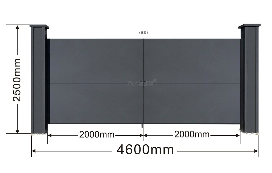工地钢结构烤漆大门
